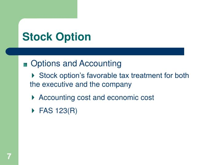 accounting for stock options essay Fasb: financial accounting standards board.