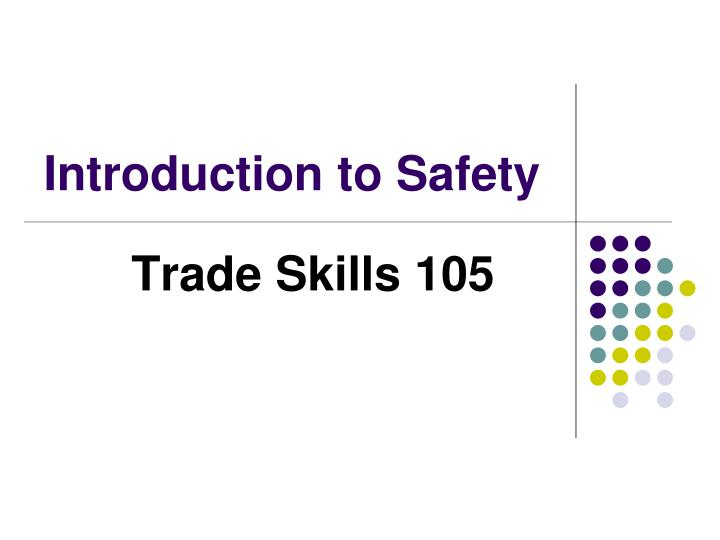 introduction to safety n.