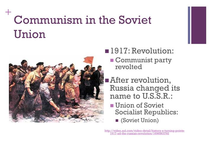 Communism in the Soviet Union