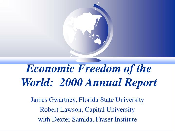 economic freedom of the world 2000 annual report