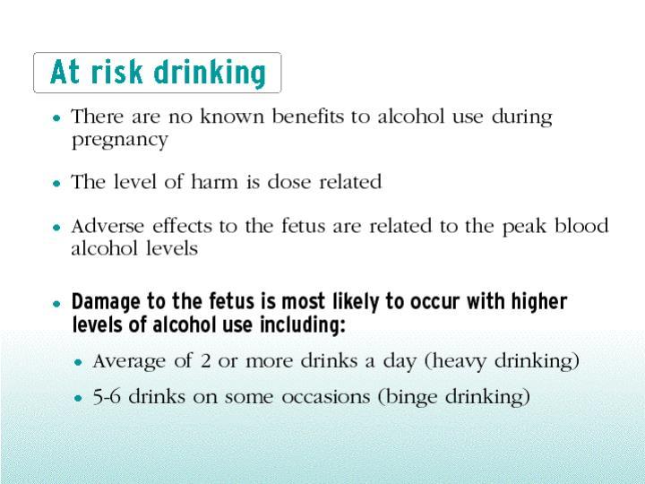 At risk drinking