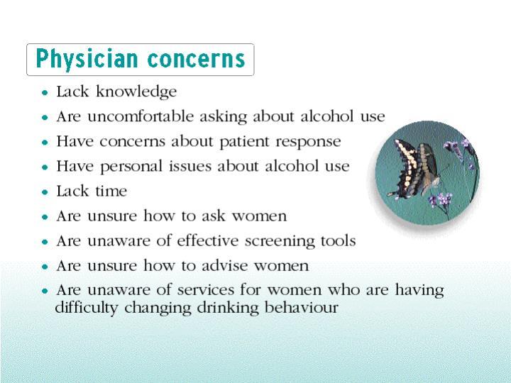 Physician concerns