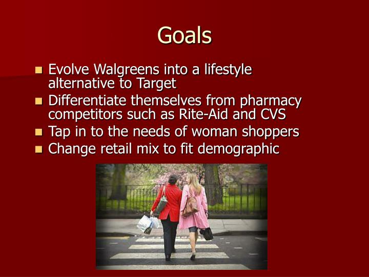 Evolve Walgreens into a lifestyle alternative to Target