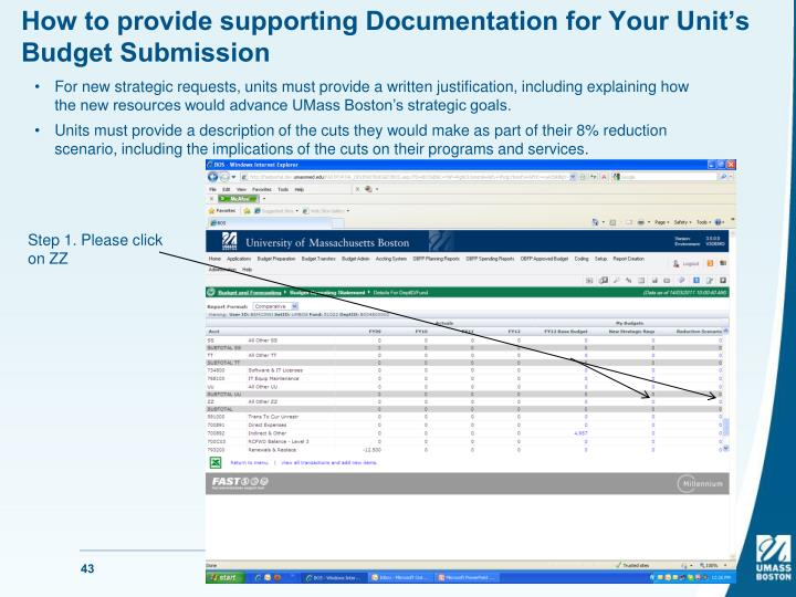 How to provide supporting Documentation for Your Unit's Budget Submission