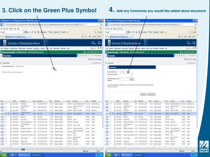 3. Click on the Green Plus Symbol
