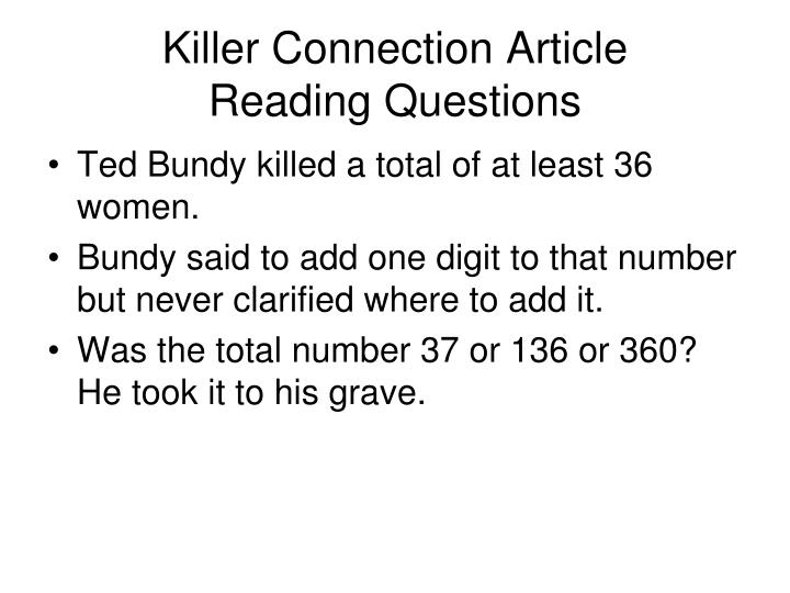 Killer connection article reading questions2
