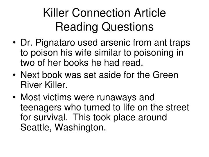 Killer Connection Article