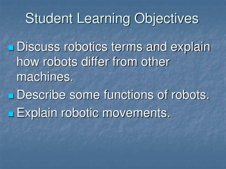 Student Learning Objectives