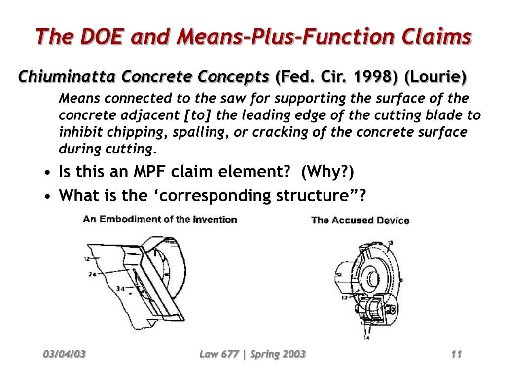 PPT - Infringement & the Doctrine of Equivalents II