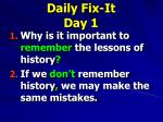daily fix it day 11