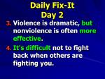daily fix it day 21