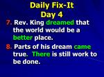 daily fix it day 41