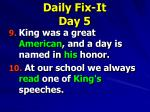 daily fix it day 51