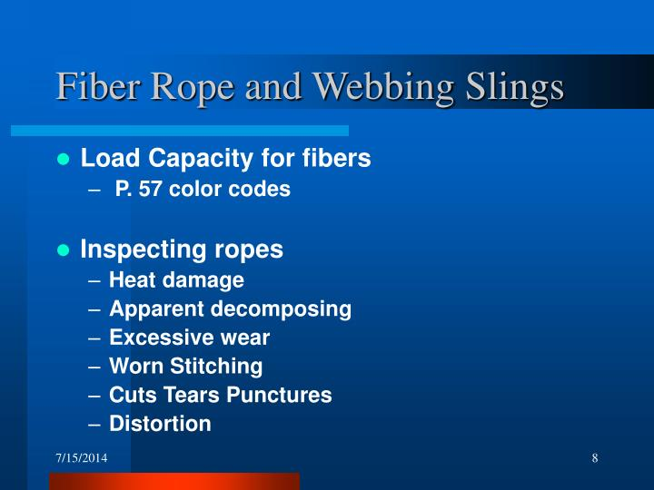 Fiber Rope and Webbing Slings