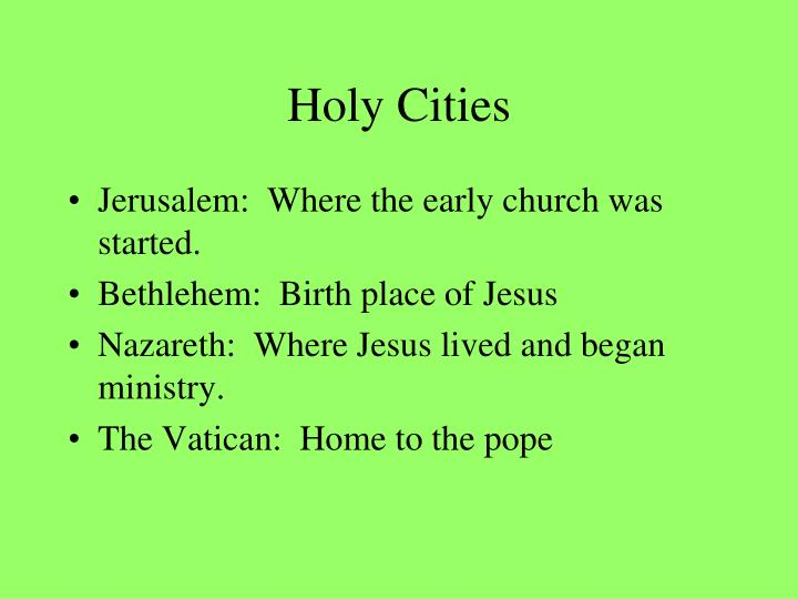 Holy Cities