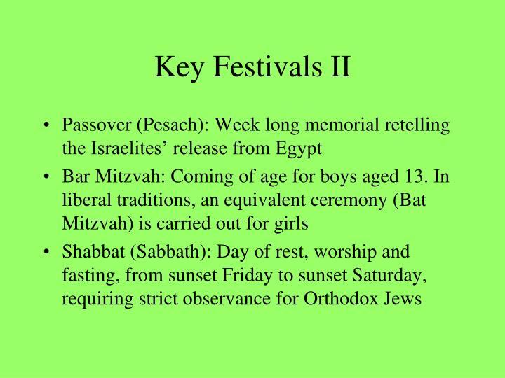 Key Festivals II