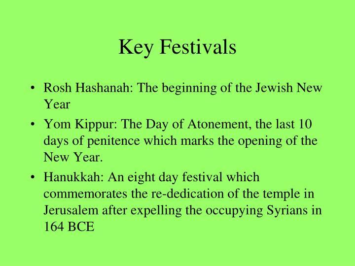 Key Festivals