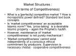 market structures in terms of competitiveness