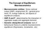 the concept of equilibrium macroeconomics