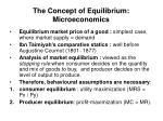 the concept of equilibrium microeconomics