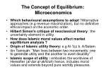 the concept of equilibrium microeconomics1