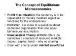 the concept of equilibrium microeconomics2