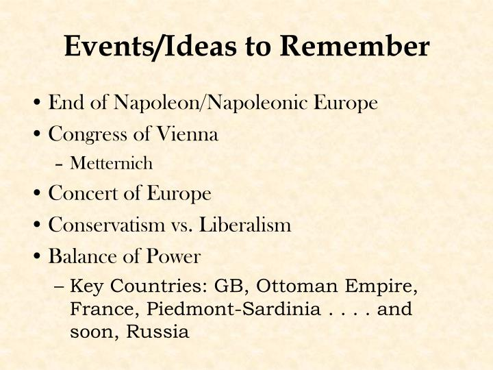 Events ideas to remember