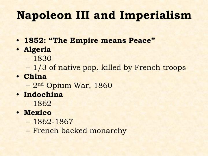 "1852: ""The Empire means Peace"""