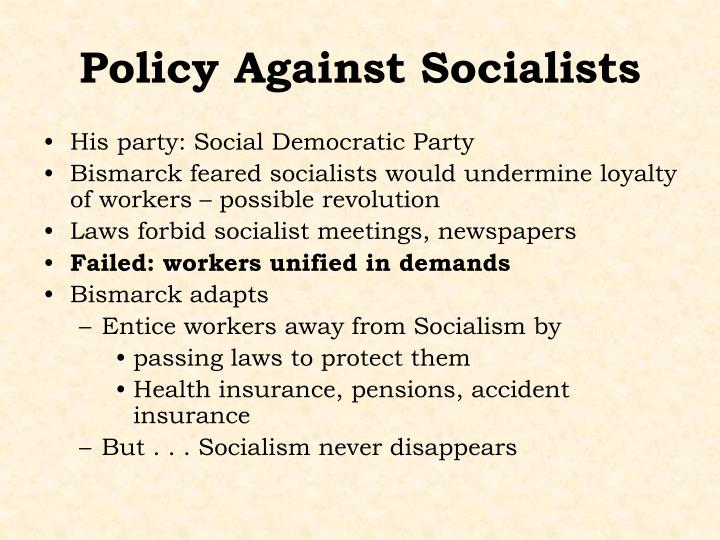 Policy Against Socialists