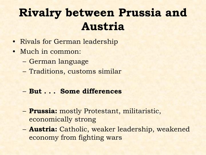 Rivalry between Prussia and Austria