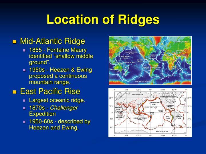 Location of ridges