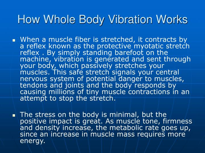 How Whole Body Vibration Works