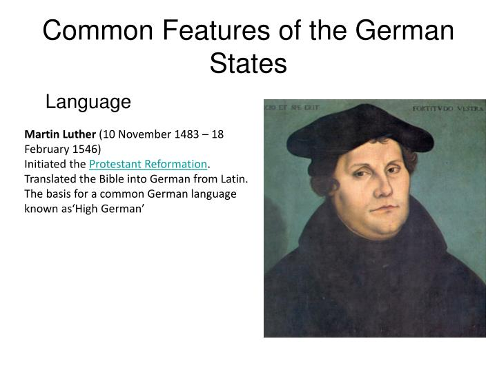 common features of the german states n.