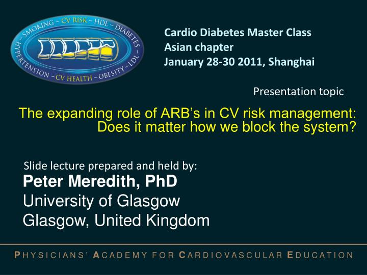 the expanding role of arb s in cv risk management does it matter how we block the system n.