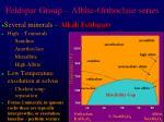 feldspar group albite orthoclase series