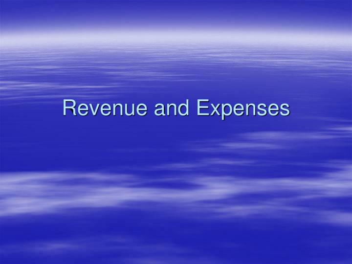 revenue and expenses n.