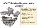 4q477 rebukes reported by the overseer