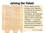 joining the yahad