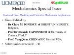 mechatronics special issue fractional order modeling and control in mechatronic applications