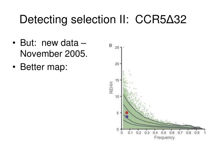 Detecting selection II:  CCR5