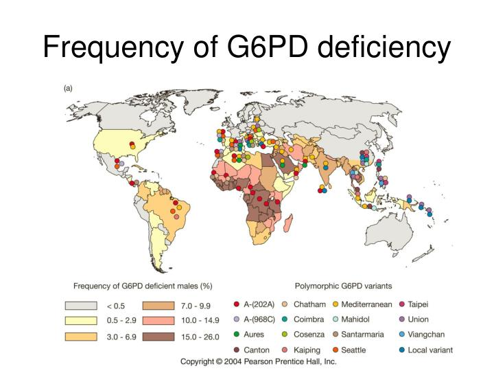 Frequency of G6PD deficiency