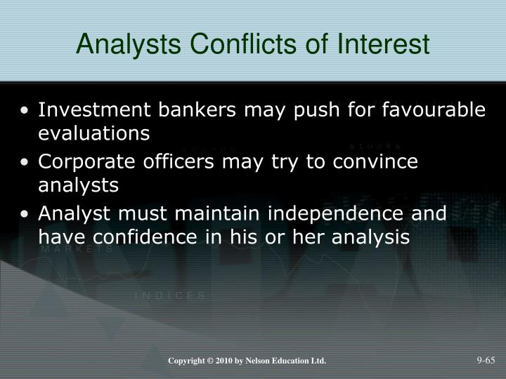 Analysts Conflicts of Interest