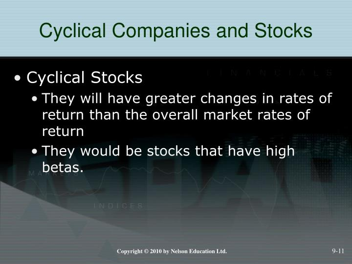 Cyclical Companies and Stocks