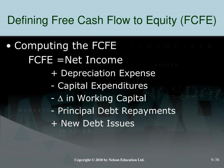 Defining Free Cash Flow to Equity (FCFE)