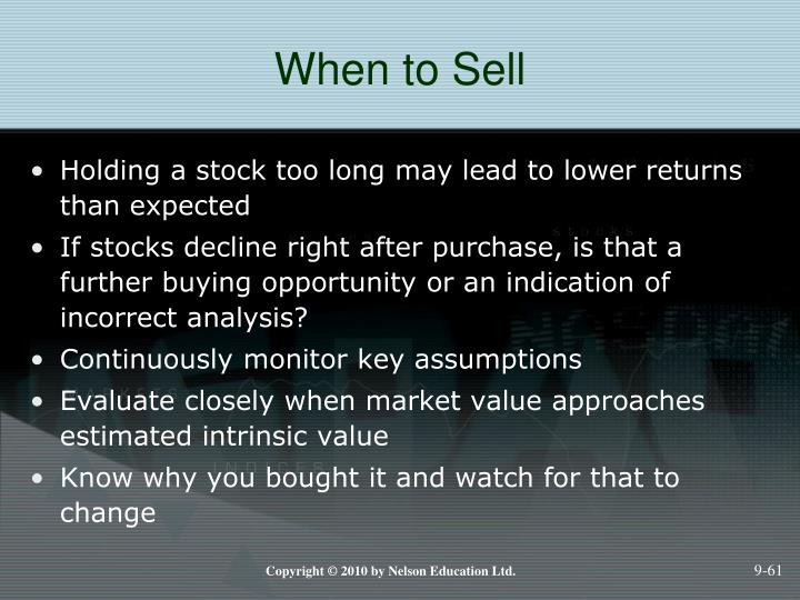 When to Sell