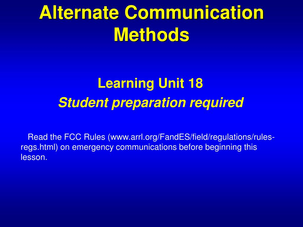 PPT - The ARRL Amateur Radio Emergency Communications Course