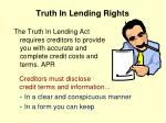 truth in lending rights
