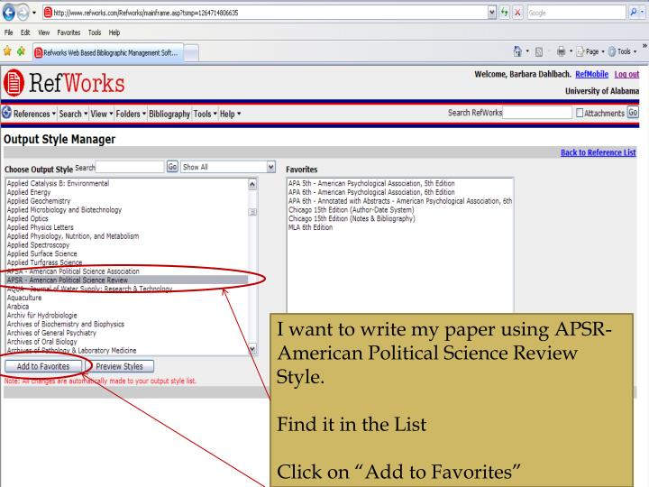 I want to write my paper using APSR-American Political Science Review Style.