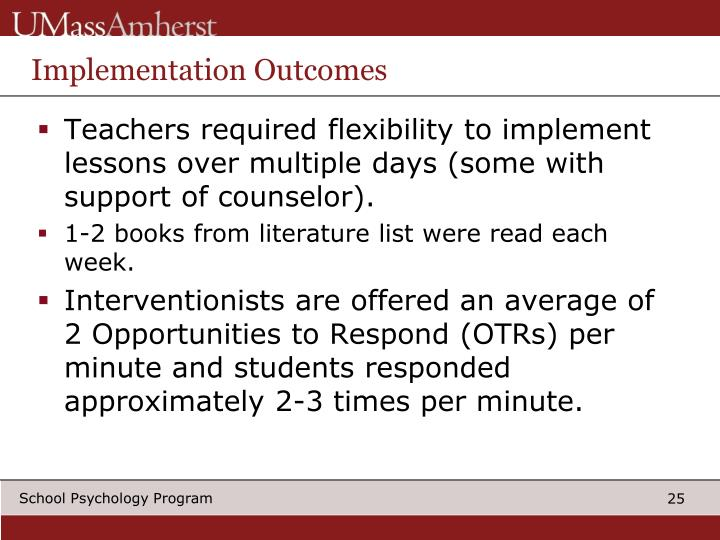 Implementation Outcomes