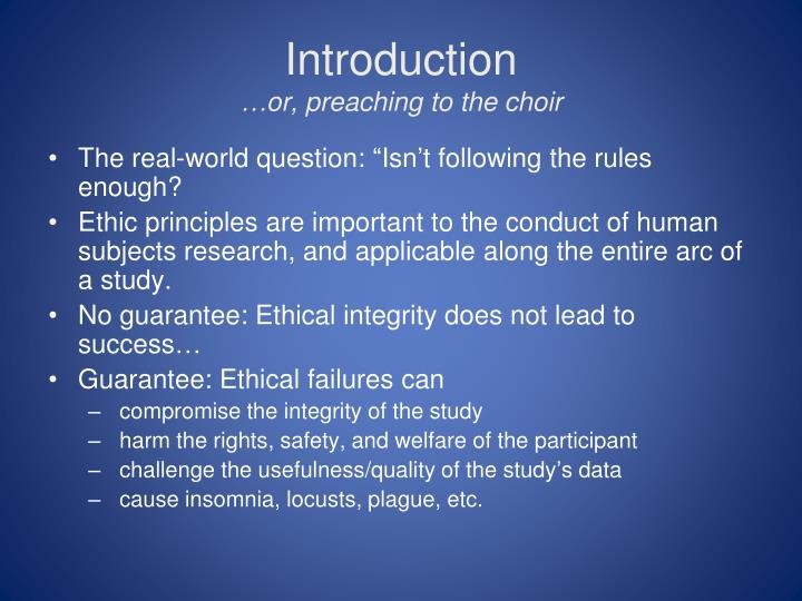 factors in the ethical codes in research Introduction: ethical principles for processworkers this ethics code applies to activities that are part of the educational and/or professional roles of processwork practitioners associated with the process work institute areas covered include but are not limited to the clinical, counseling and educational practice of process work, research, teaching, supervision of trainees, public service.